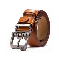 Ремень из натуральной кожи Bison Denim N71223 (светло-коричневый)