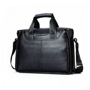 Кожаная сумка Bison Denim Oscar Black