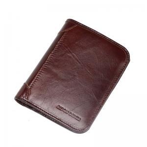 Мужское кожаное портмоне Bison Denim India Brown (RFID Block)